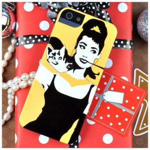 Audrey Hepburn Phone Case in Yellow