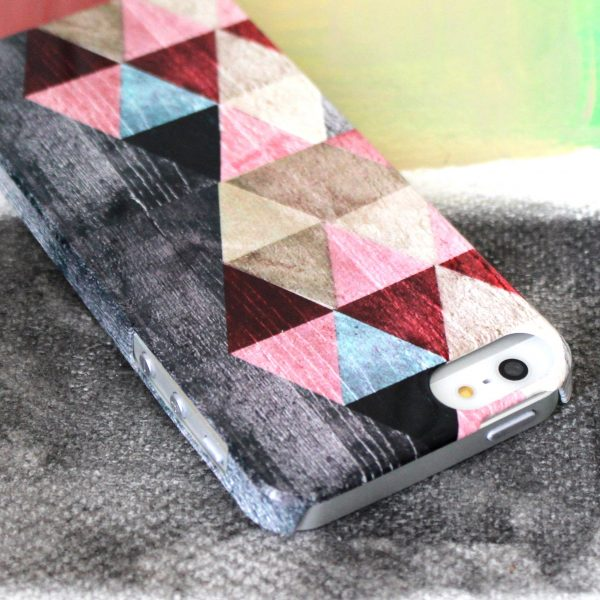 Sparrow Studios 'Coloured Triangles in Red' Phone case