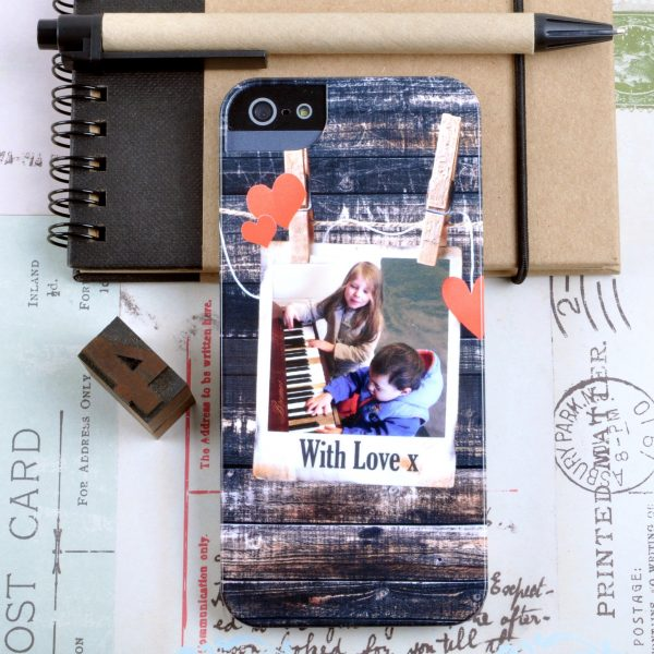 Personalised Photograph Phone case with hearts