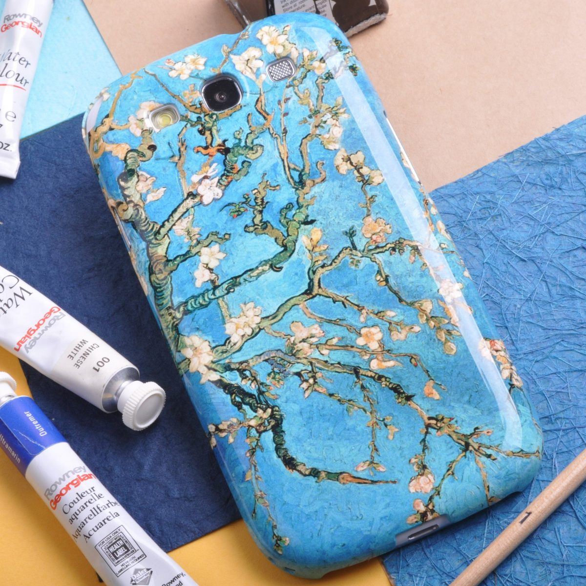 """Vincent van Gogh """"Branch of an Almond Tree in Blossom"""" Phone case"""