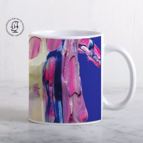 Luscious Mix of Pink Blue and White Paints Mug