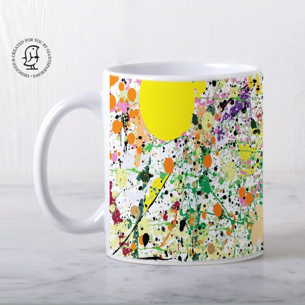 Orange & Yellow Paint Splatter Design Mug