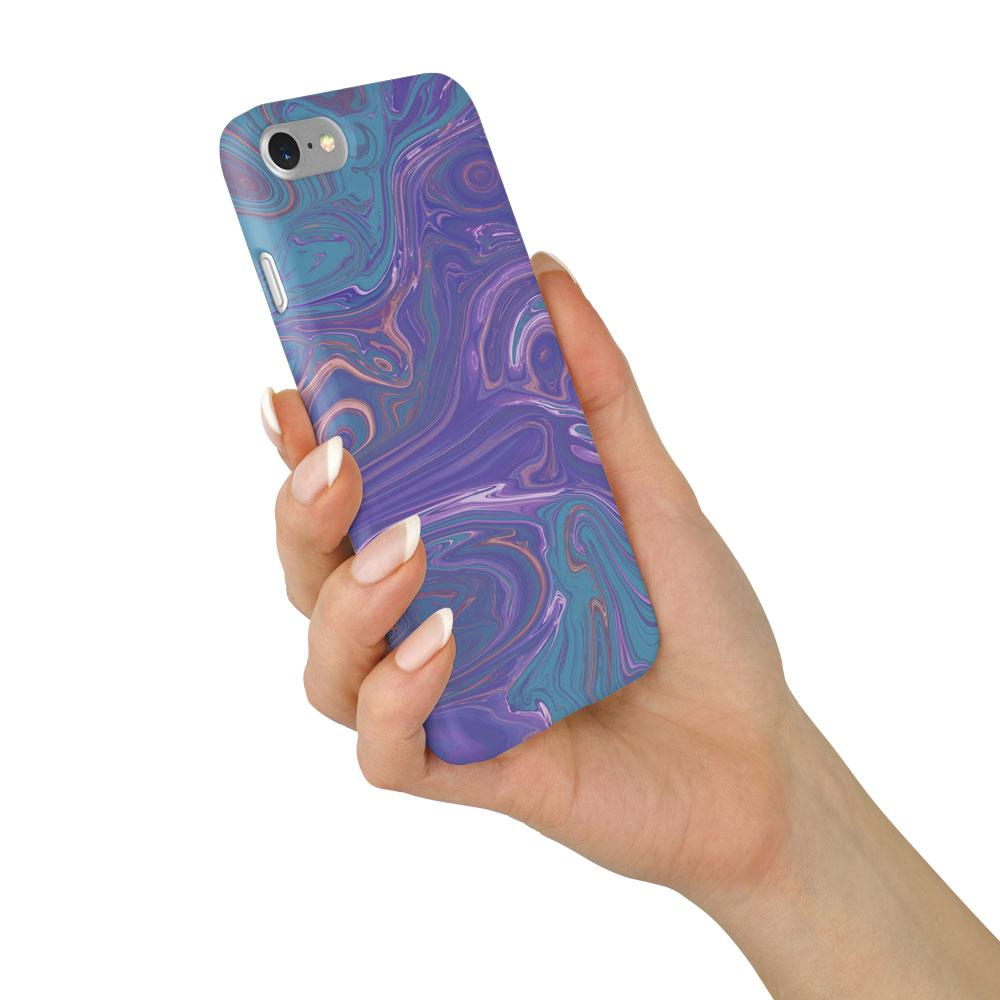 Agate Stone Purple/Green Design Phone Case