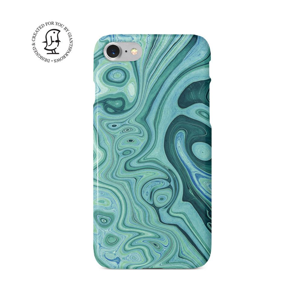 Agate Stone Green/Blue Design Phone Case