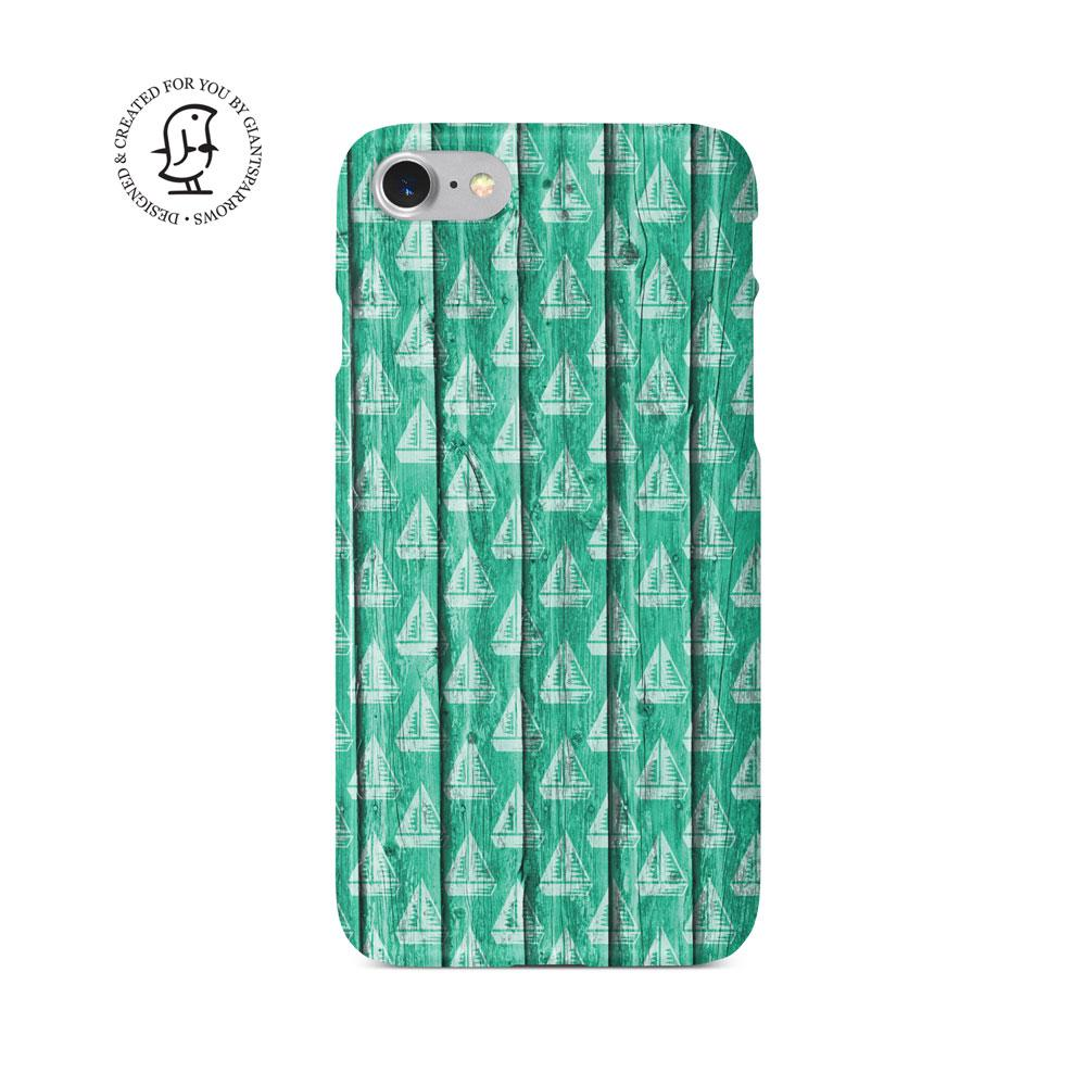 """Green Sailing"" Beach House Collection Phone Case"