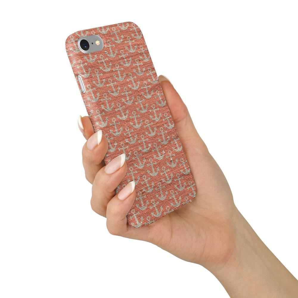 """Red Anchors"" Beach House Collection Phone Case"