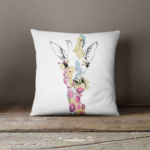 "Casey Rogers Illustration Cushion - ""Giraffe"""