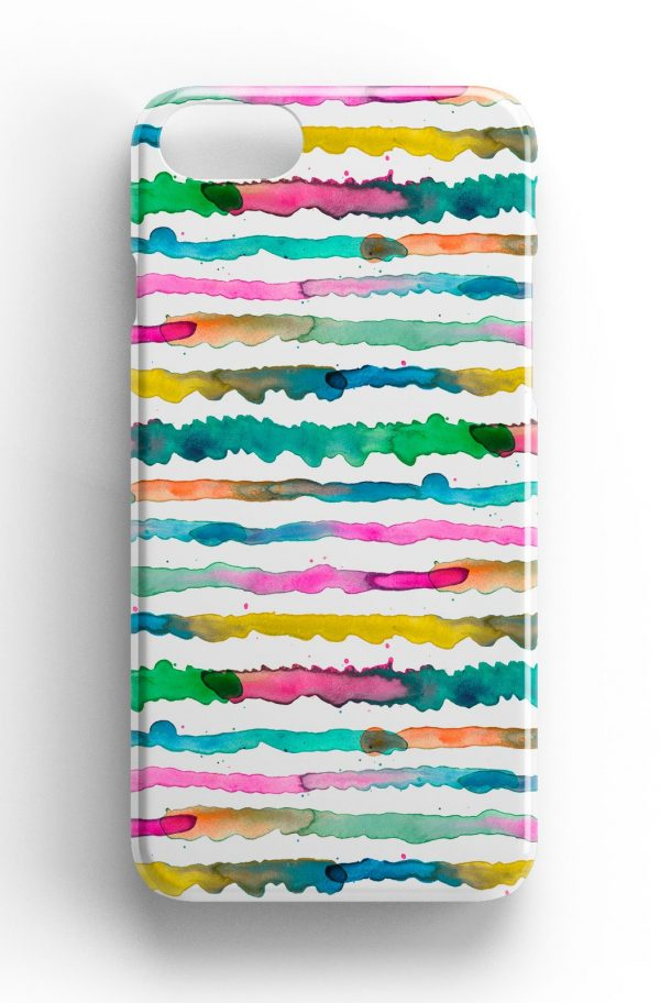 Ninola Design Gradient Watercolour  Lines Phone Case