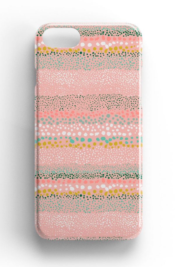 Ninola Design Abstract Pink Paint Dots Phone Case