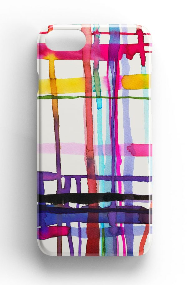 Ninola Design Watercolour Geometric Lines Phone Case