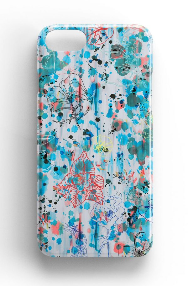Ninola Design Blue Watercolour Flower Phone Case