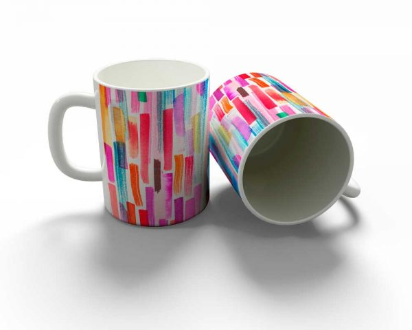 Colourful Brushstrokes Mug