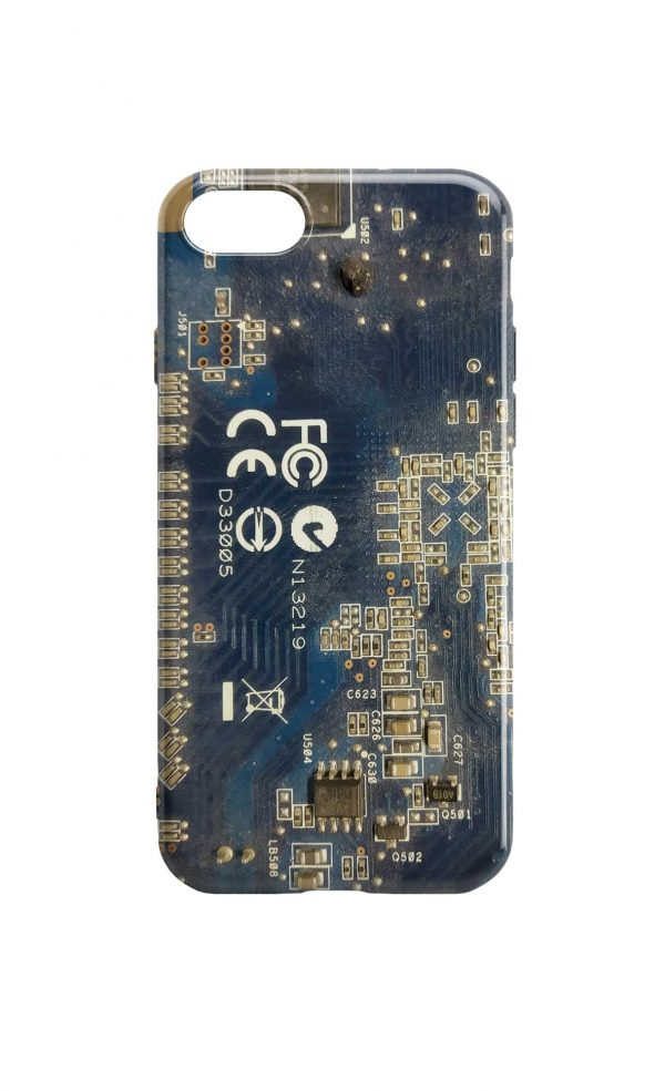 Circuit Board Phone Case - Dusty Blue