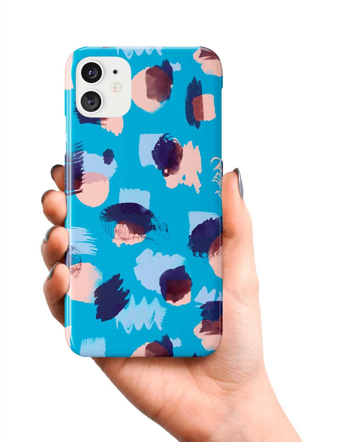 Ninola Design Abstract Stains Blue Phone Case