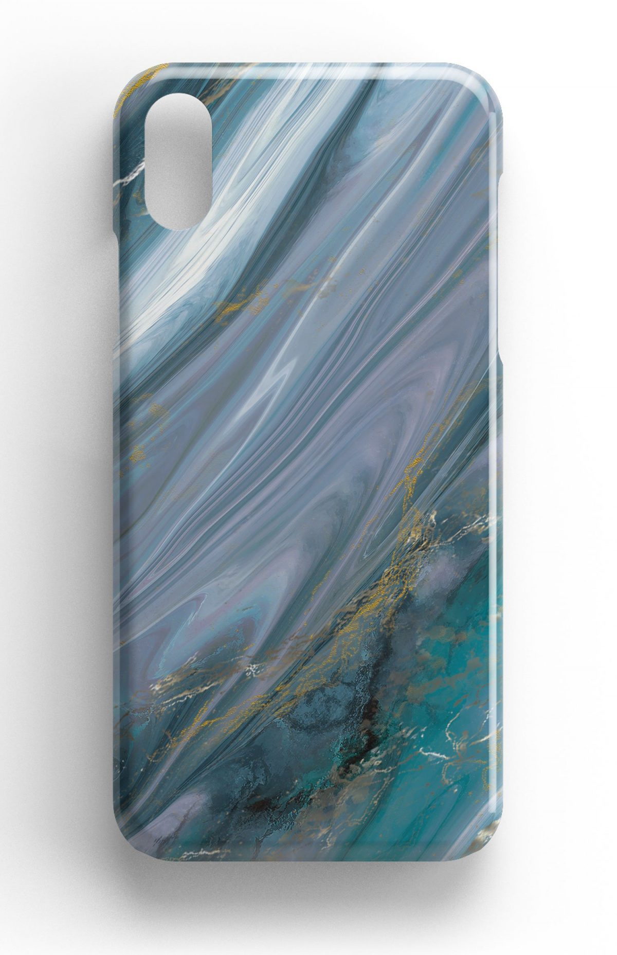 Agate Stone Green/Gold/White Design Phone Case
