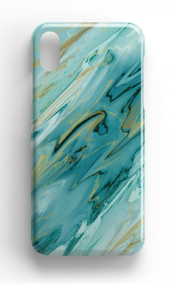 Agate Stone Green/Gold Design Phone Case