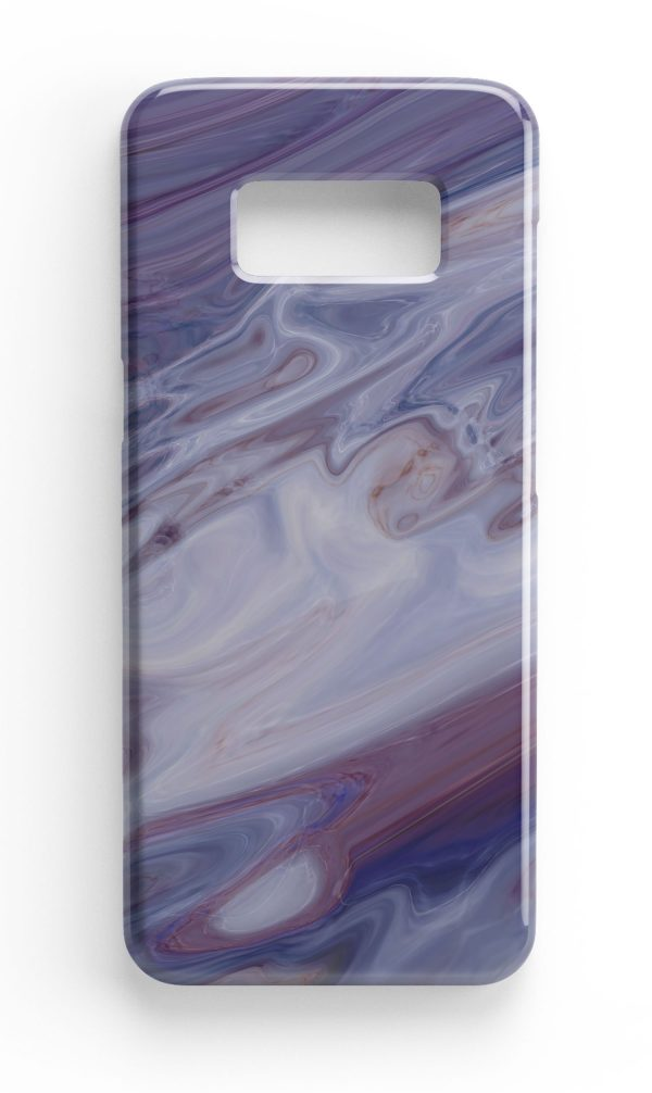 Agate Stone Mauve/White Design Phone Case