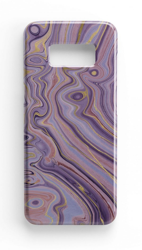 Agate Stone Gold/Purple Design Phone Case