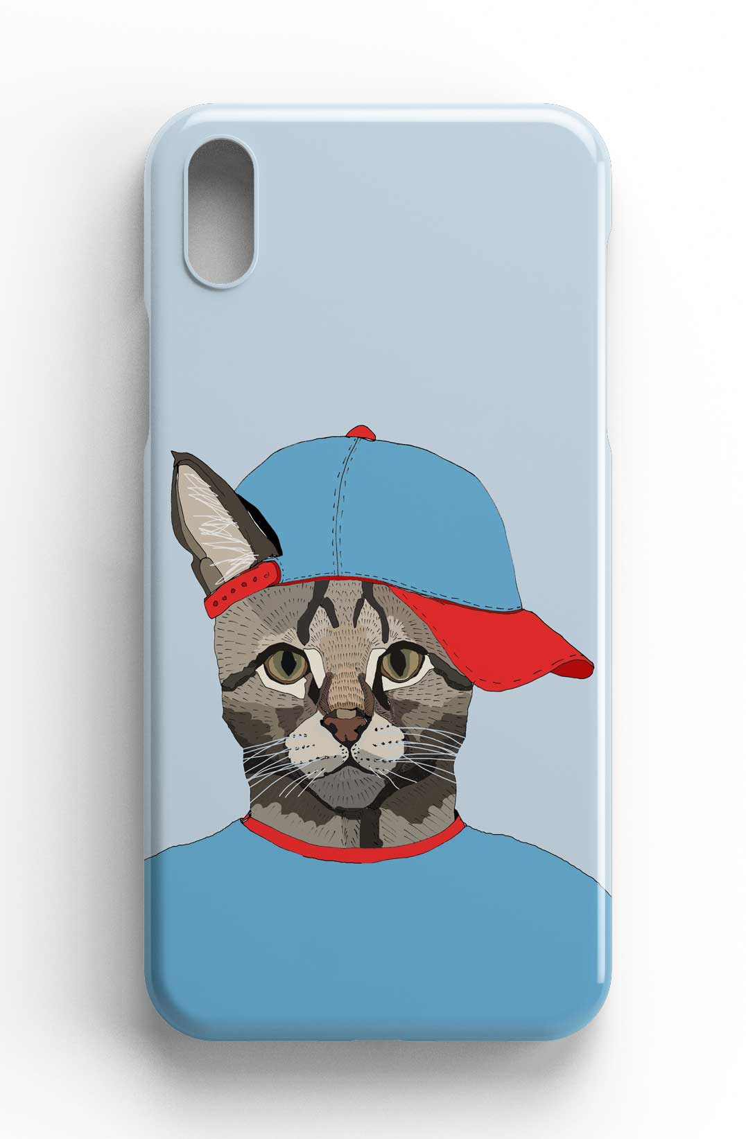 """Casey Rogers Illustrated Phone Case """"Cat with a Cap"""""""