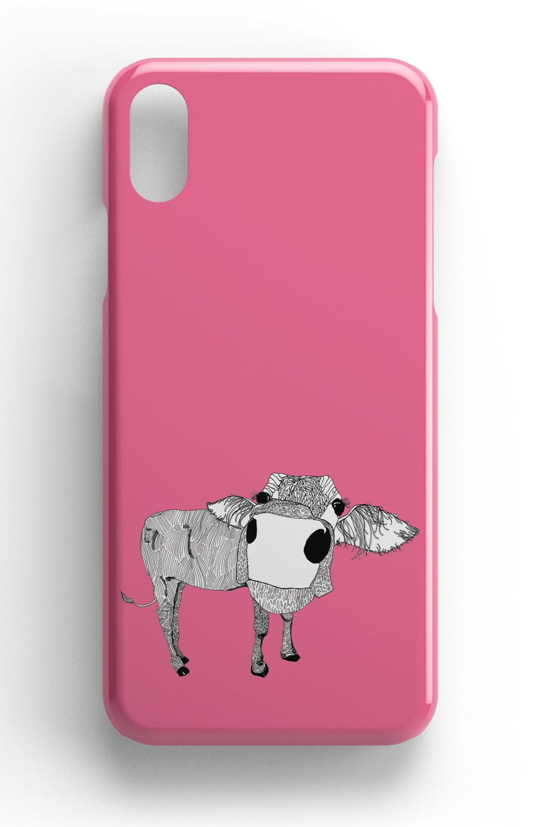 """Casey Rogers Illustrated Phone Case """"Cowface"""""""