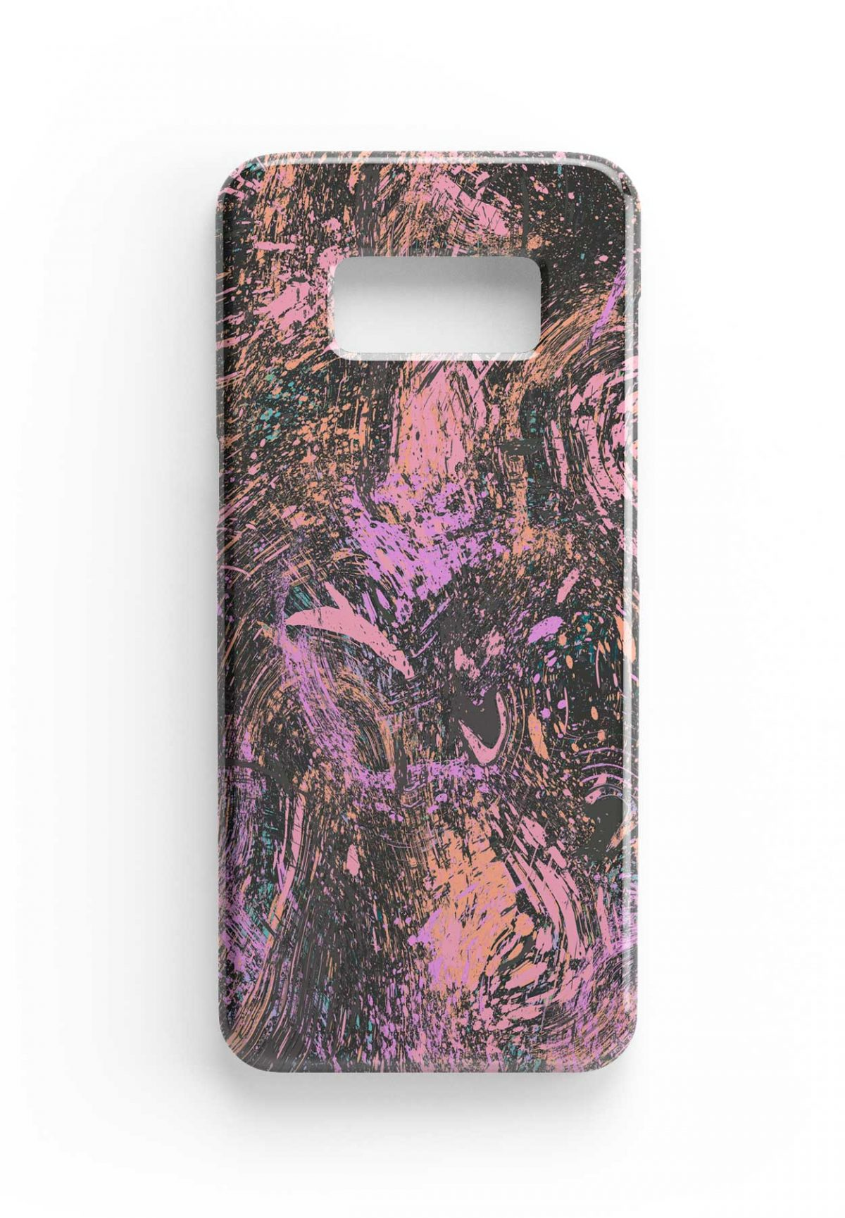 Ninola Design Abstract Dripping Dust Coral Phone Case