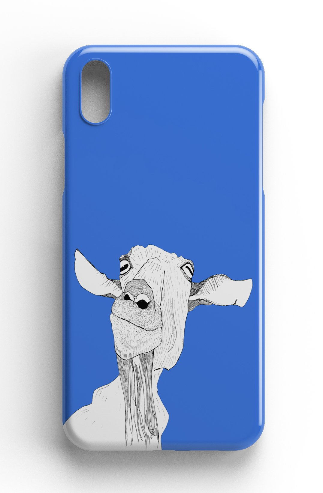 """Casey Rogers Illustrated Phone Case """"Cheeky Goat"""""""