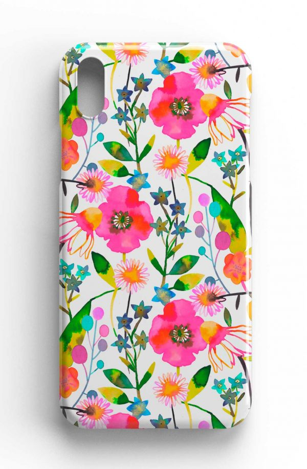 Ninola Design Happy Spring Flowers Phone Case
