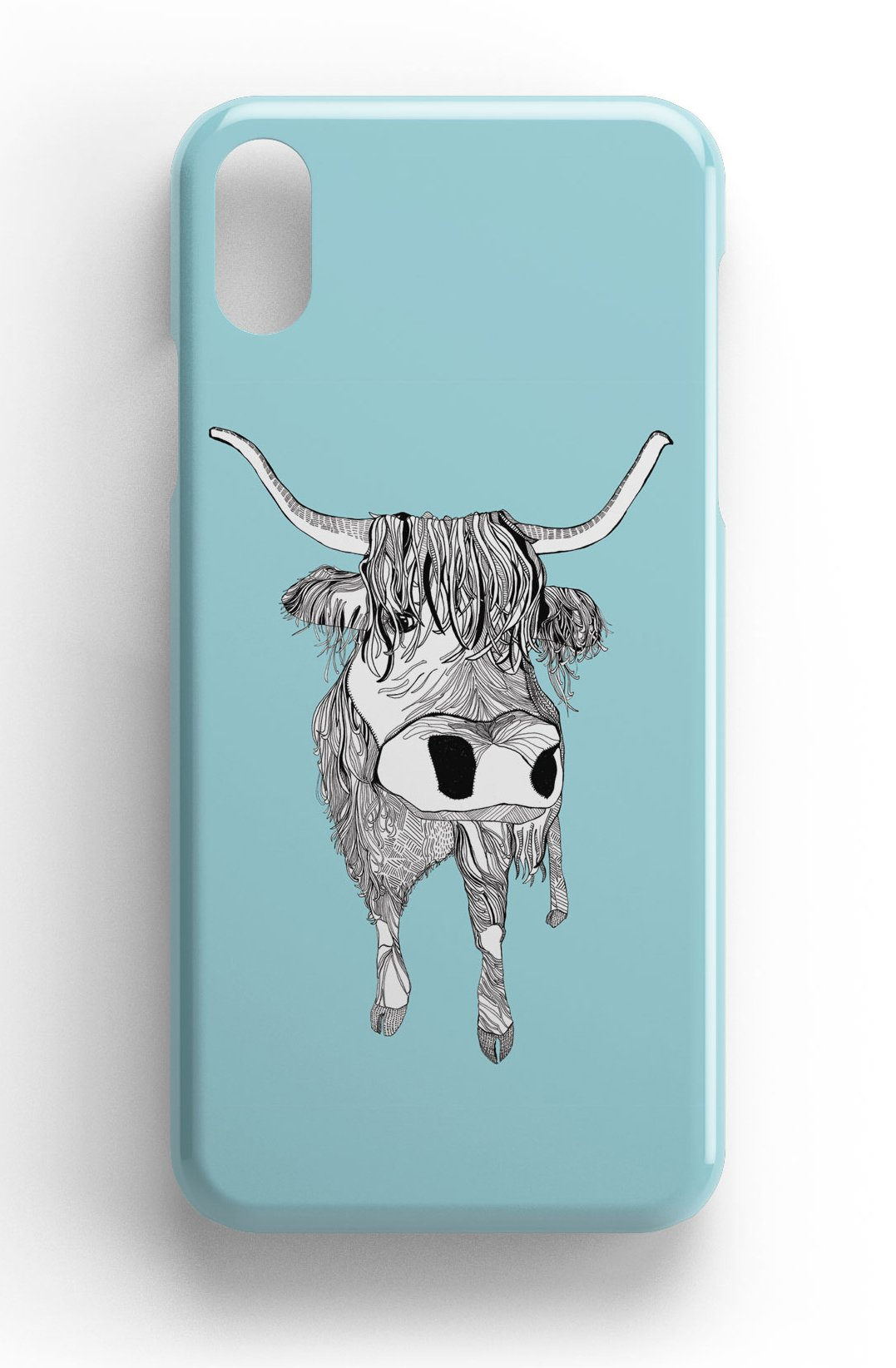 """Casey Rogers Illustrated Phone Case """"Highland Cattle"""""""