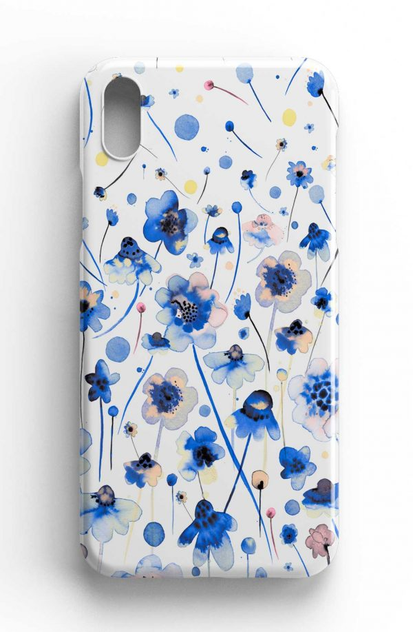 Ninola Design Ink Flowers Degraded Phone Case