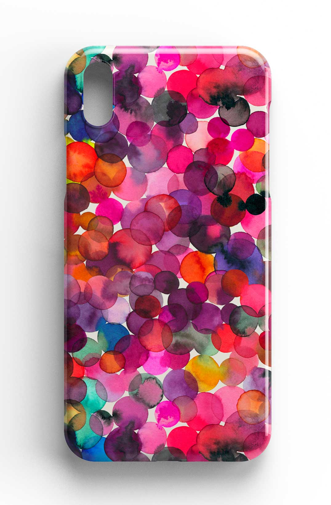 Ninola Design Overlapped Watercolor Dots Phone Case