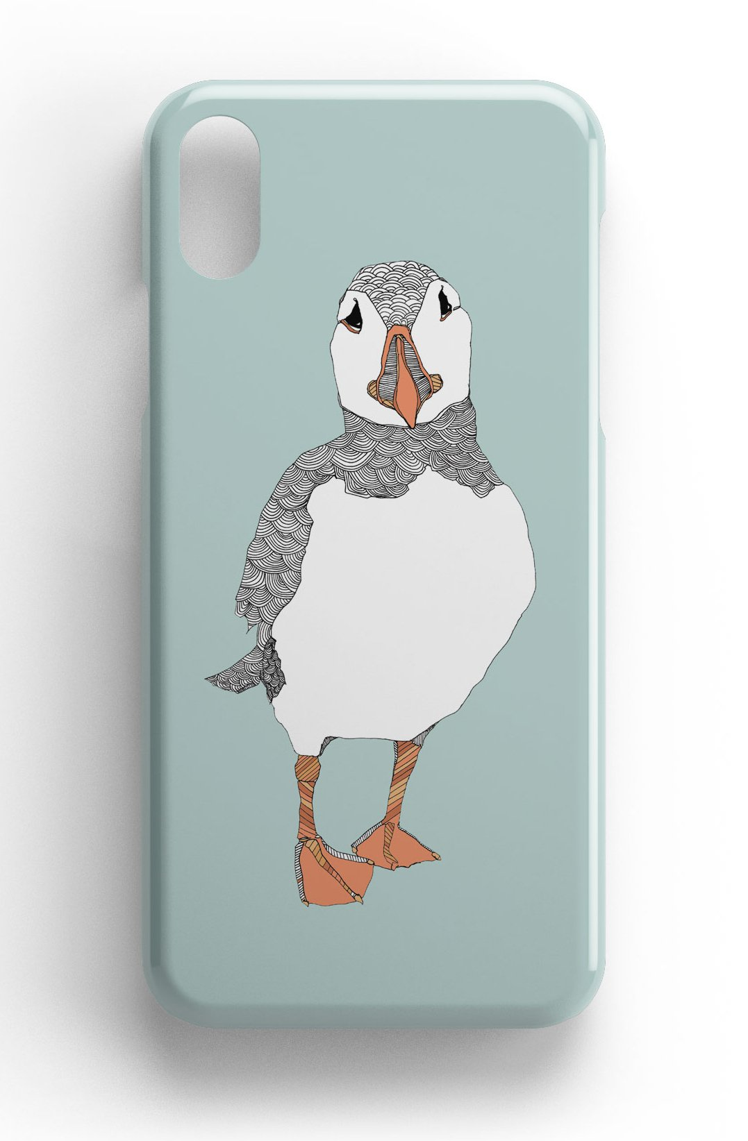 """Casey Rogers Illustrated Phone Case """"Puffin1"""""""