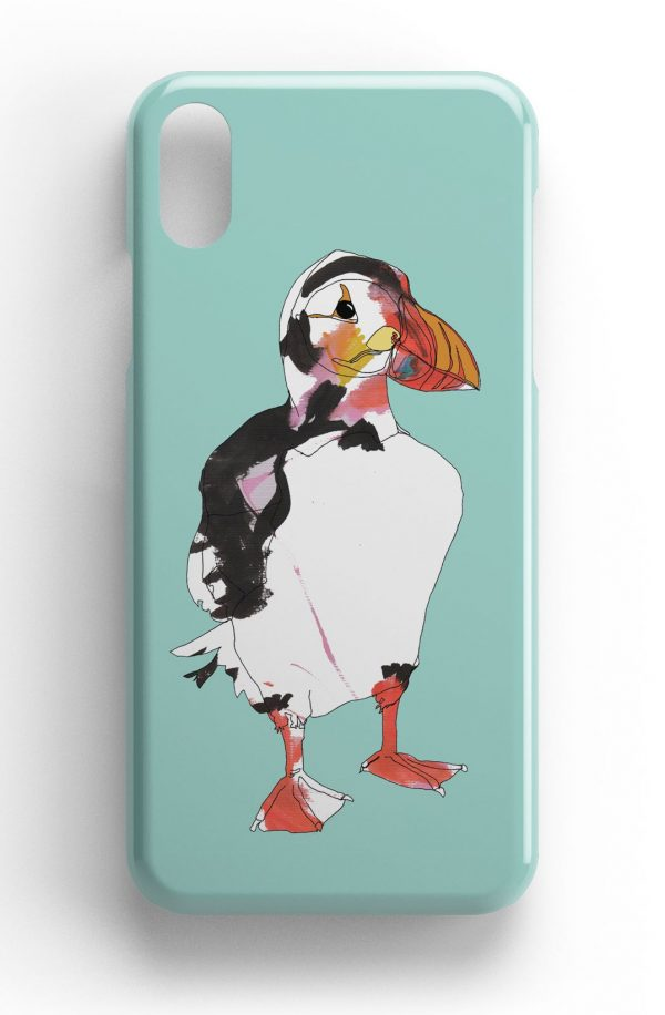 """Casey Rogers Illustrated Phone Case """"Puffin2"""""""
