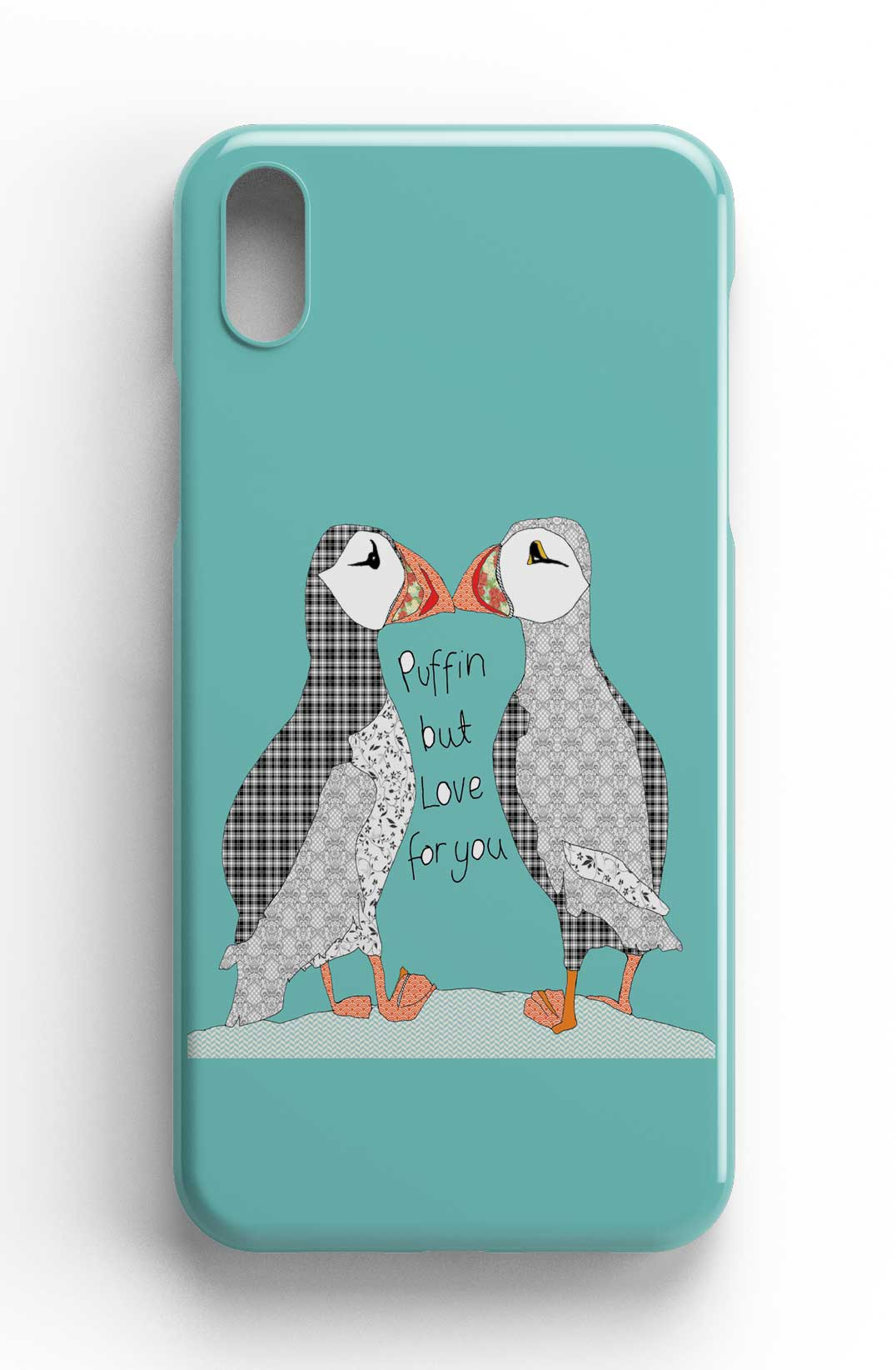 """Casey Rogers Illustrated Phone Case """"Puffin Love"""""""