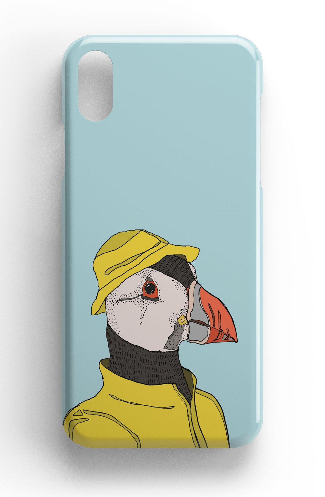 """Casey Rogers Illustrated Phone Case """"Puffin in a Mac"""""""