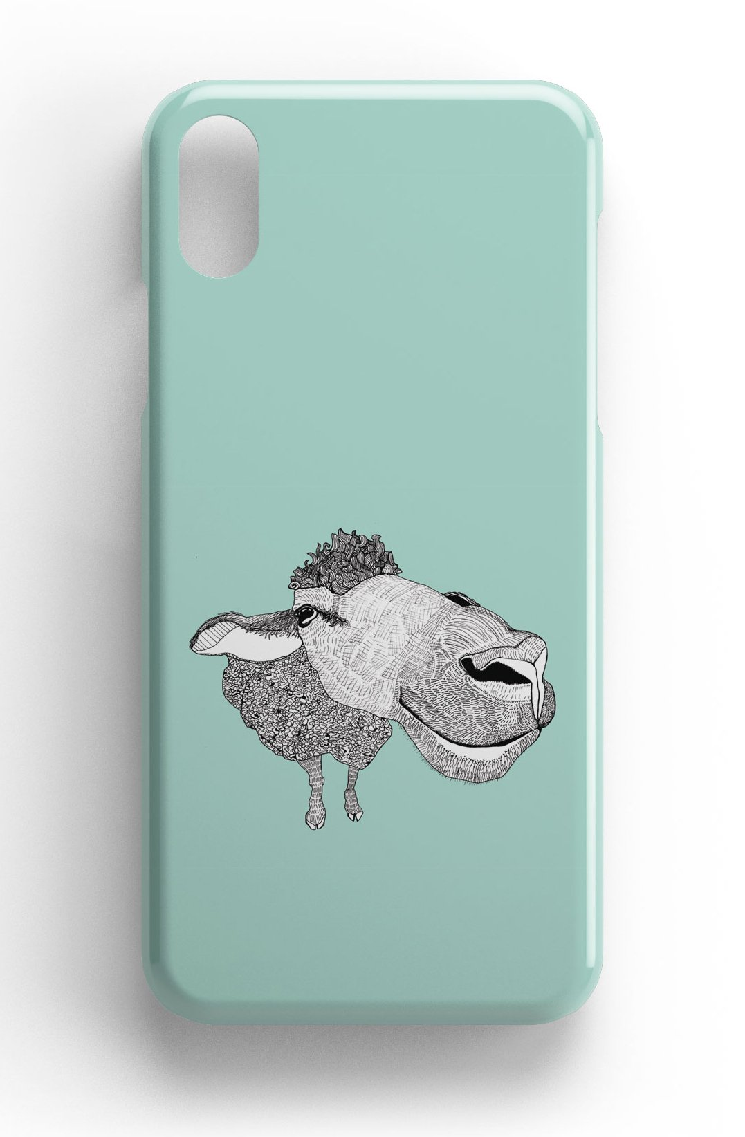 """Casey Rogers Illustrated Phone Case """"Big Face Sheep"""""""