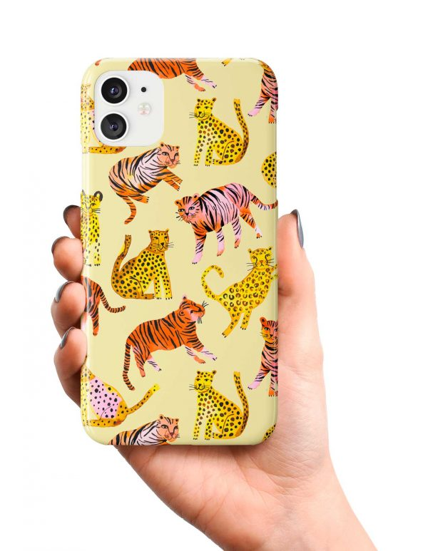 Ninola Design Tigers and Leopards Yellow Phone Case