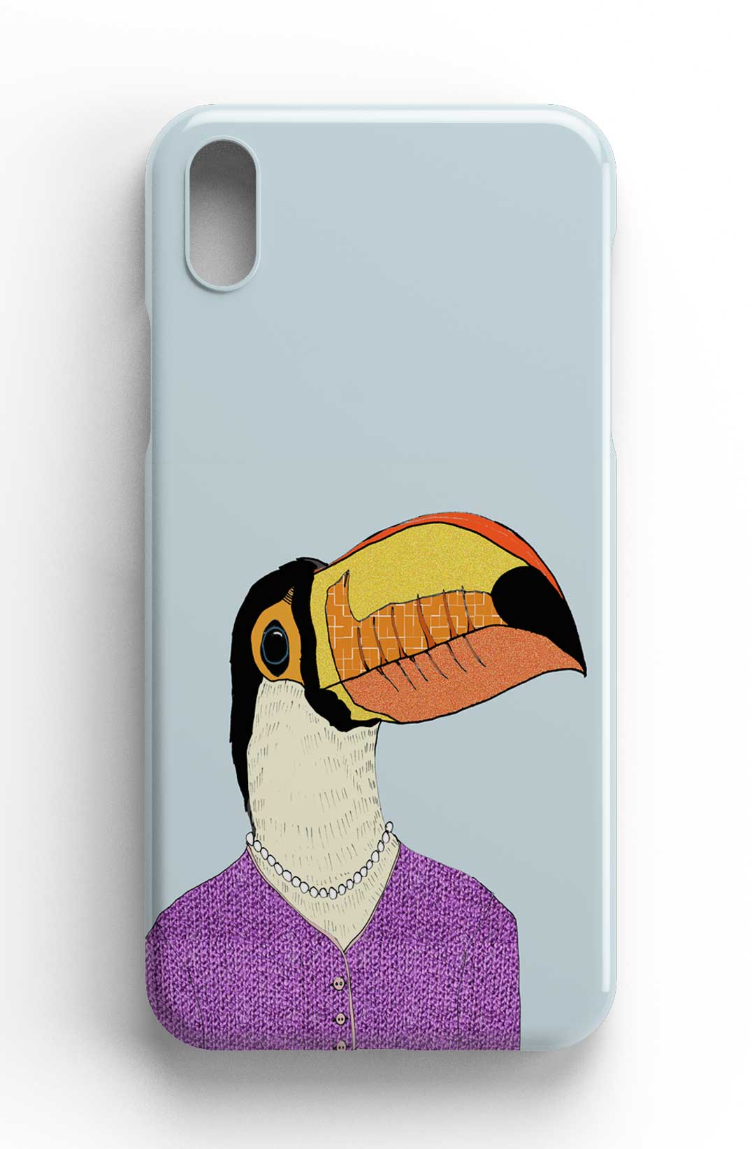 "Casey Rogers Illustrated Phone Case ""Toucan in a Cardigan"""