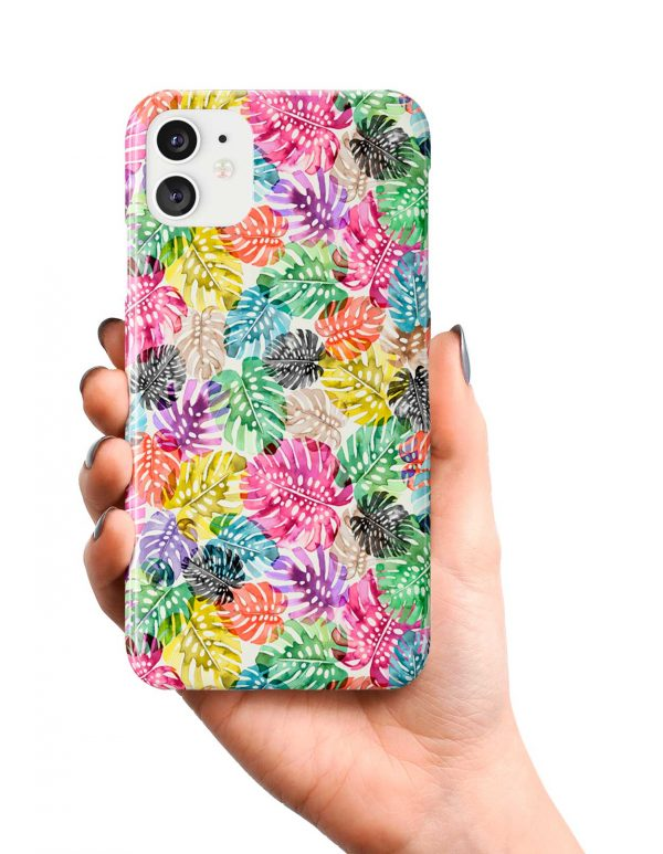 Ninola Design Tropical Monstera Leaves Phone Case