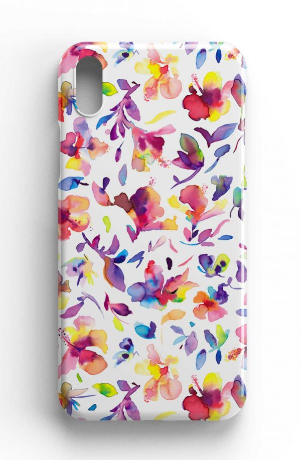 Ninola Design Watercolor Hibiscus Pink Phone Case