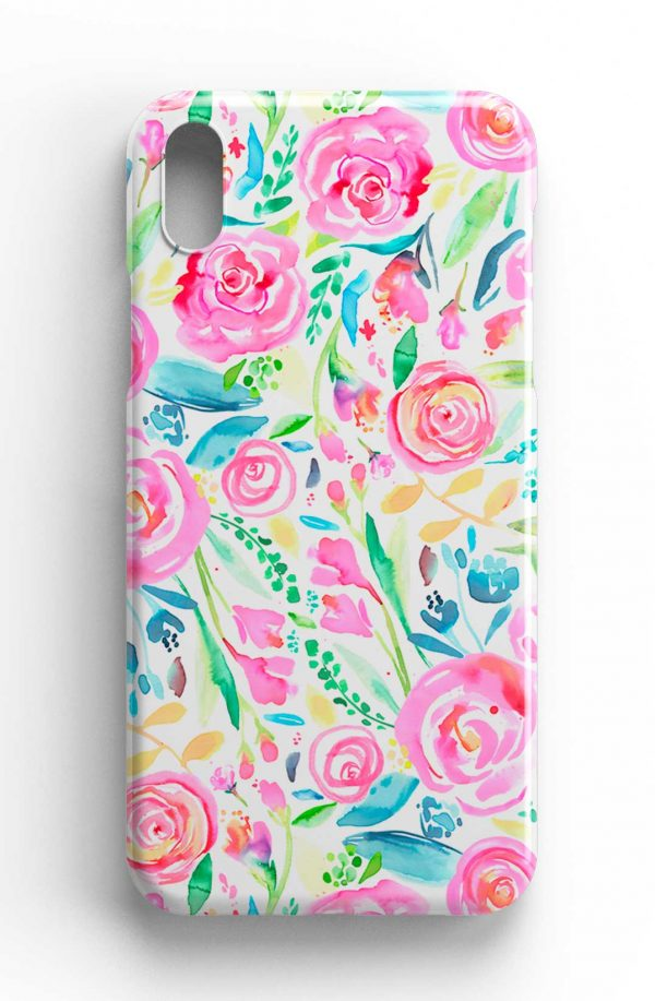 Ninola Design Watercolor Pastel Roses Phone Case