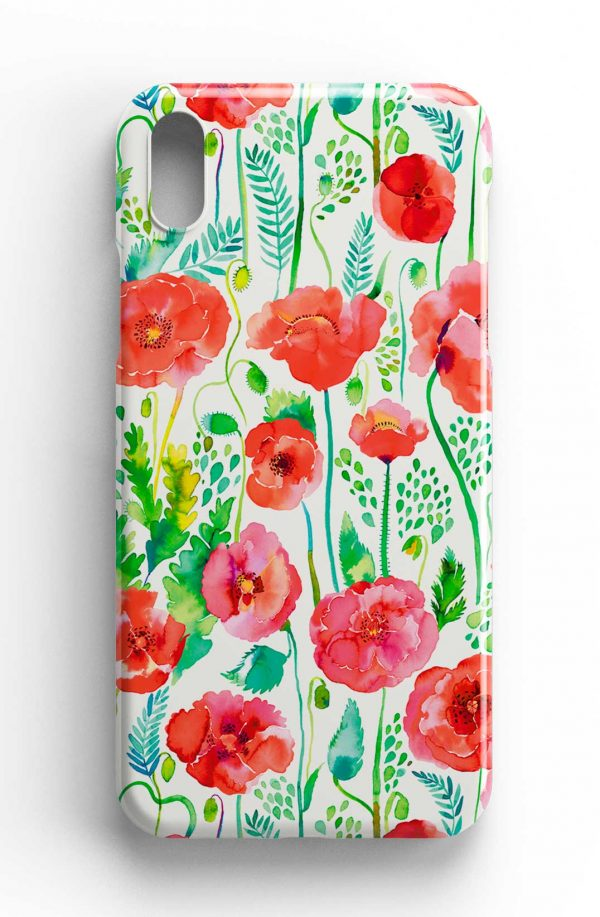 Ninola Design Watercolour Poppies Red Phone Case