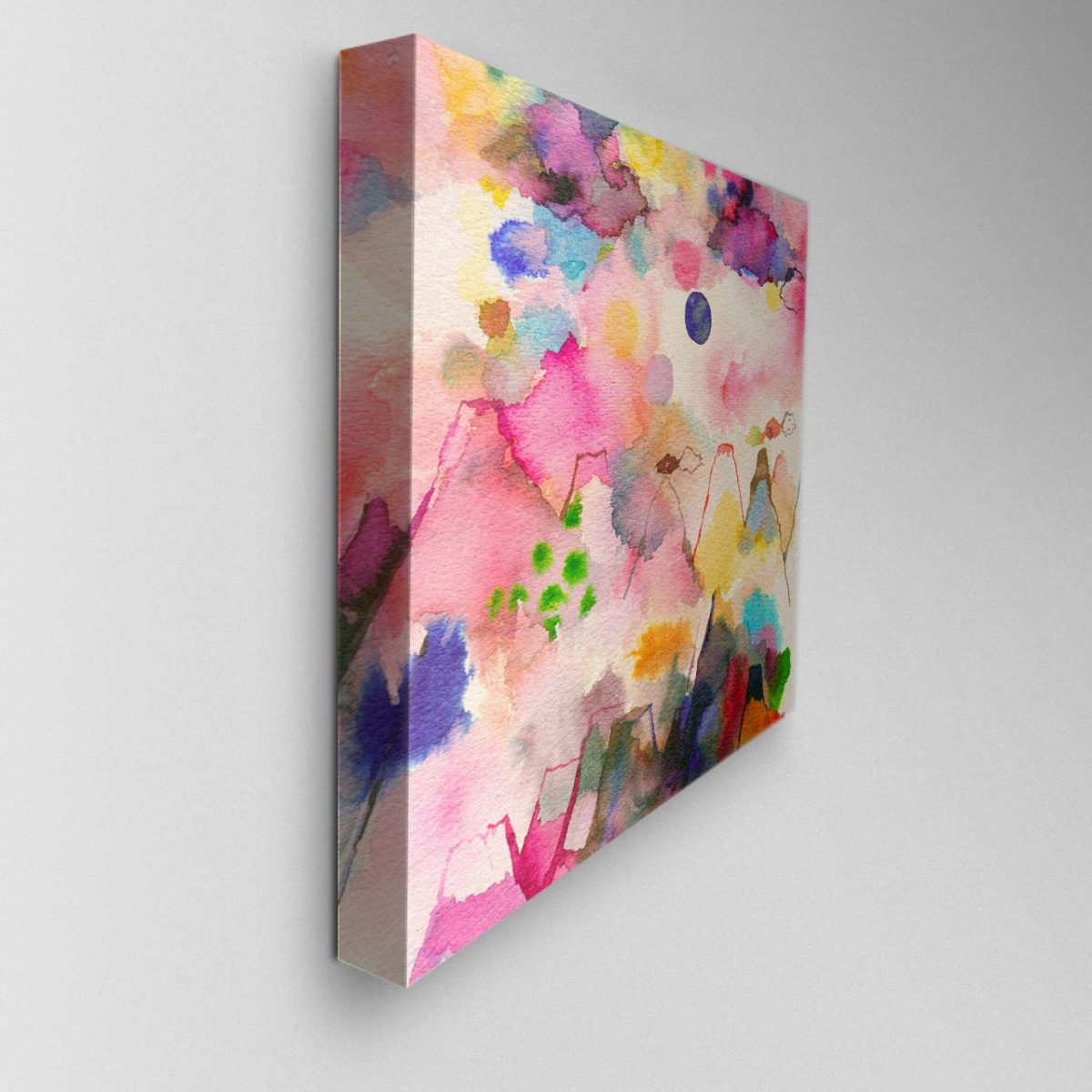 Whimsical Mountains Canvas Picture