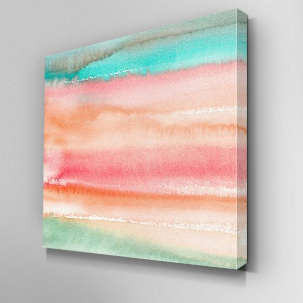 Gradient Watercolor Melon Canvas Picture